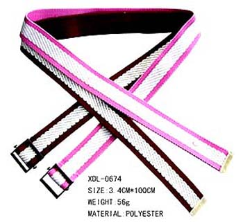Best online womens accessory B2B trade dealer exports Polyester fashion belt with small buckle  / china-wholesale-product-exporter-002